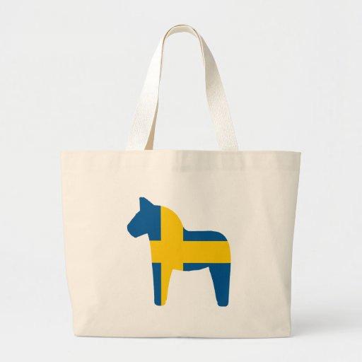 Schweden-Flagge Dala Pferd Einkaufstaschen