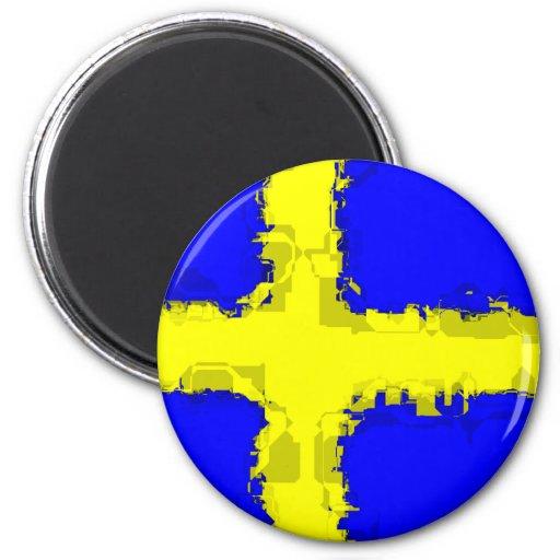 SCHWEDEN-FLAGGE Magnet Kühlschrankmagnet