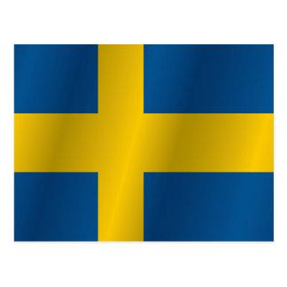 Schweden-Flagge Postkarte