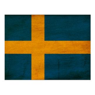 Schweden-Flagge Postkarten