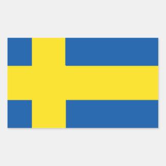 Schweden-Flagge Rechteckiger Aufkleber