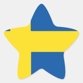 Schweden-Flagge Stern-Aufkleber