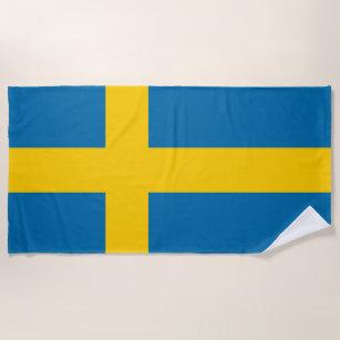 Schweden-Flagge Strandtuch