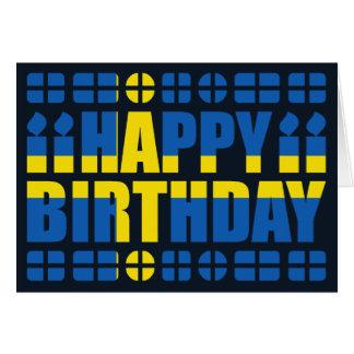 Schweden-Flaggen-Geburtstags-Karte Grußkarte