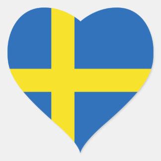 Schweden-Flaggen-Herz-Aufkleber