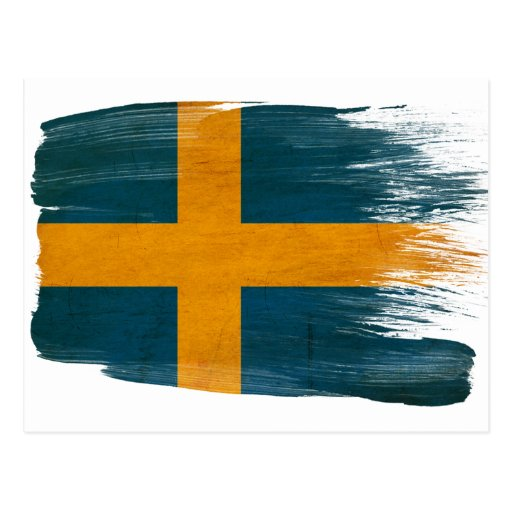 Schweden-Flaggen-Postkarten