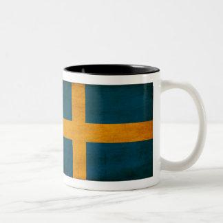 Schweden-Flaggen-Tasse Zweifarbige Tasse