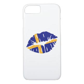 Schweden-Flaggenkuß iPhone 8/7 Hülle