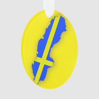 Schweden-Karten-Flaggen-Weihnachtsverzierung Ornament