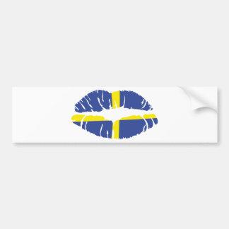 Schweden-Kusslippenstiftflagge Autoaufkleber