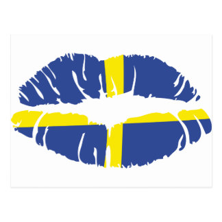 Schweden-Kusslippenstiftflagge Postkarten
