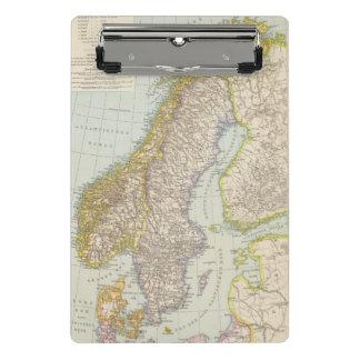 Schweden, Norwegen - Schweden und Norwegen-Karte Mini Klemmbrett