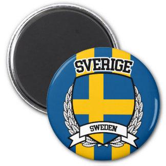 Schweden Runder Magnet 5,1 Cm