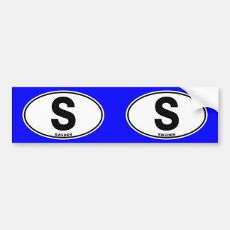 Schweden S ovale Autoaufkleber