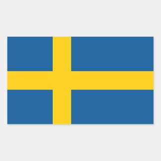 Schweden/Schwede/schwedische Flagge Rechteckiger Aufkleber