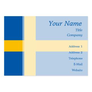 Schweden - schwedische Flagge Jumbo-Visitenkarten