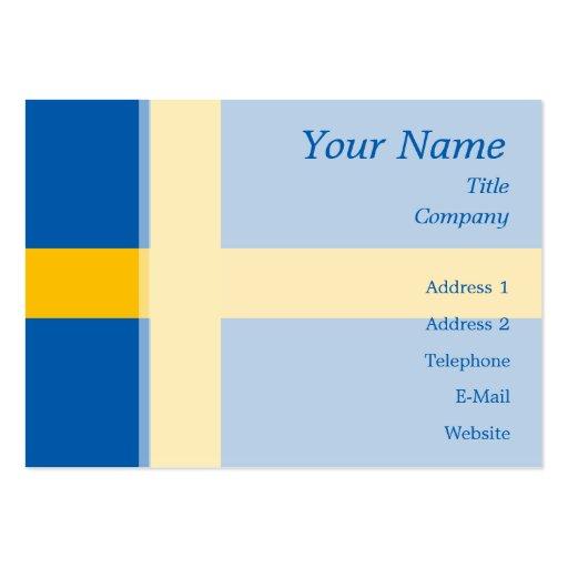 Schweden - schwedische Flagge Visitenkartenvorlagen