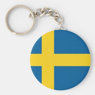 Schweden Standard Runder Schlüsselanhänger