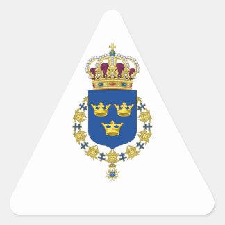 Schweden-Wappen Dreieckiger Aufkleber