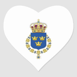 Schweden-Wappen Herz-Aufkleber