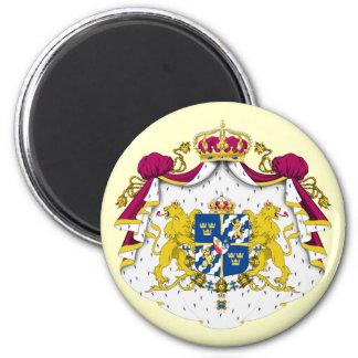 Schweden-Wappen Magneten Runder Magnet 5,7 Cm
