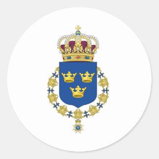 Schweden-Wappen Runder Aufkleber