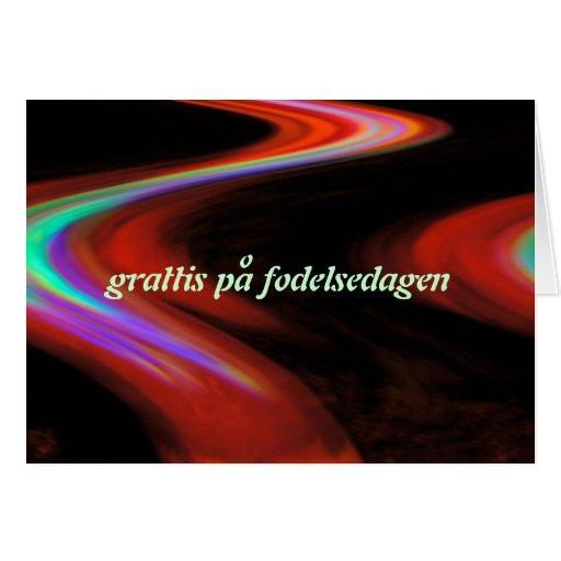 Schwedische alles- Gute zum Geburtstagkarte Karten