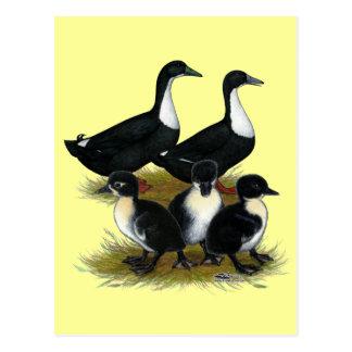 Schwedische Enten-Familie Postkarte