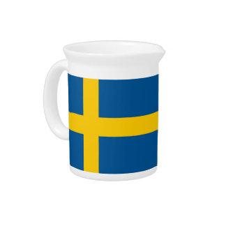 Schwedische Flagge auf Krug