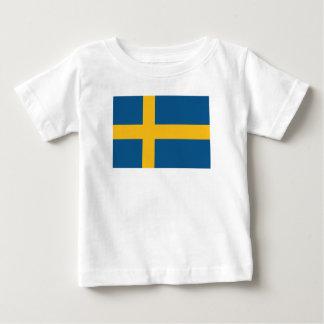Schwedische Flagge Baby T-shirt