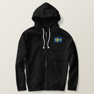 Schwedische Flagge Bestickter Hoodie