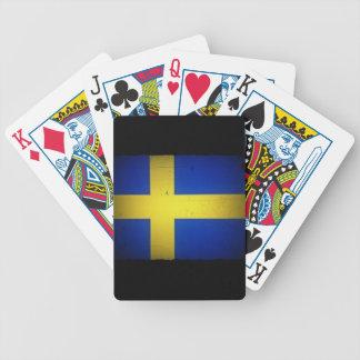 Schwedische Flagge Bicycle Spielkarten
