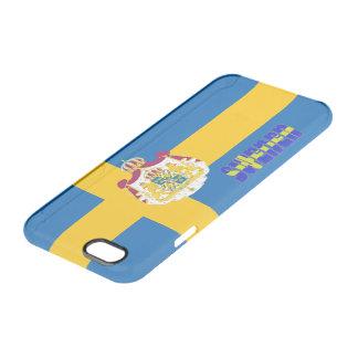 Schwedische Flagge Durchsichtige iPhone 6/6S Hülle