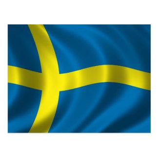 Schwedische Flagge Postkarte