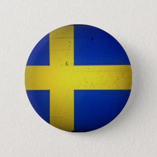 Schwedische Flagge Runder Button 5,7 Cm
