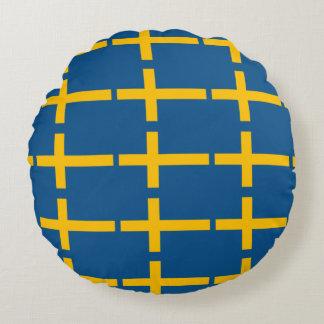 Schwedische Flagge Rundes Kissen