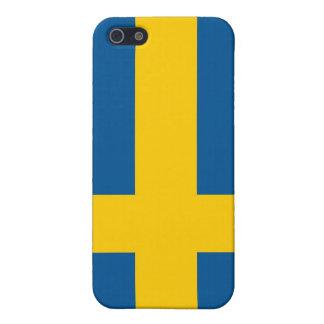 Schwedische Flagge Schutzhülle Fürs iPhone 5