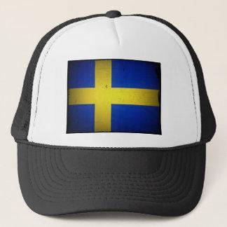 Schwedische Flagge Truckerkappe
