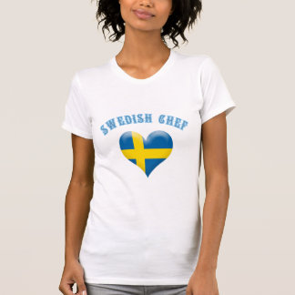 Schwedische Kochs-Herz-Flagge von T-Shirt