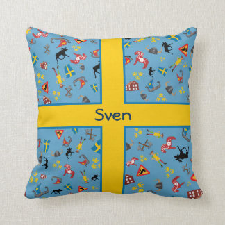 Schwedische Kultureinzelteile mit Flagge Kissen