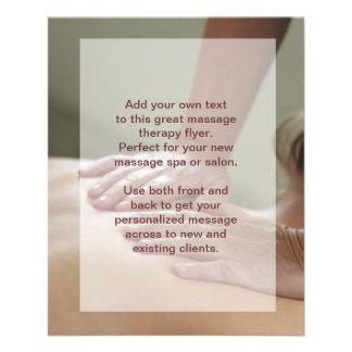 Schwedische Massage-Foto Flyerbedruckung