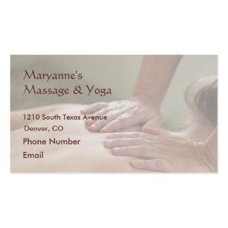 Schwedische Massage-Foto - hinter (aussortiertes Visitenkarten