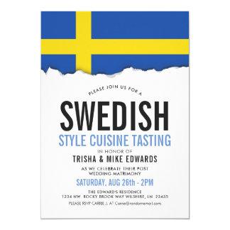 Schwedische Party-Flagge des Cuisine-| laden ein Karte