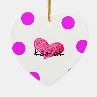 Schwedische Sprache des Liebe-Entwurfs Keramik Ornament