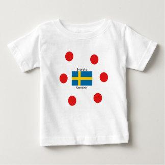 Schwedische Sprache (Svenska) und Baby T-shirt