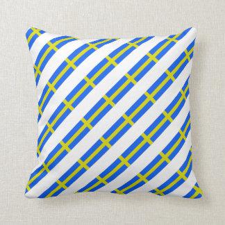 Schwedische Streifenflagge Kissen