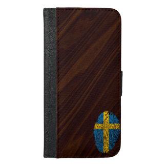 Schwedische Touchfingerabdruckflagge iPhone 6/6s Plus Geldbeutel Hülle
