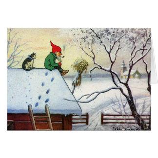 Schwedische Weihnachtskarte Karte