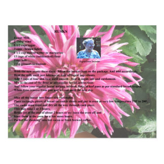 Schwedische Zwieback-Rezept-Postkarte Postkarte