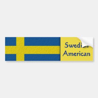 Schwedischer Amerikaner Autoaufkleber